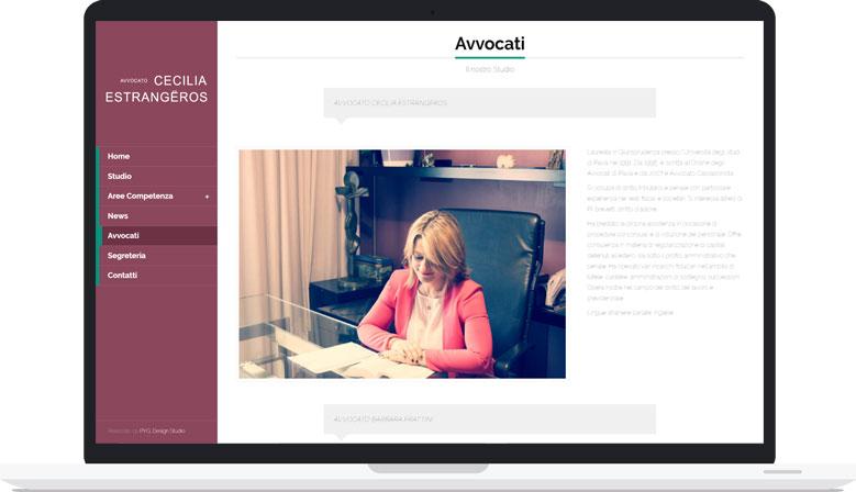 Sito Web Responsive Avvocato Cecilia Estrangeros