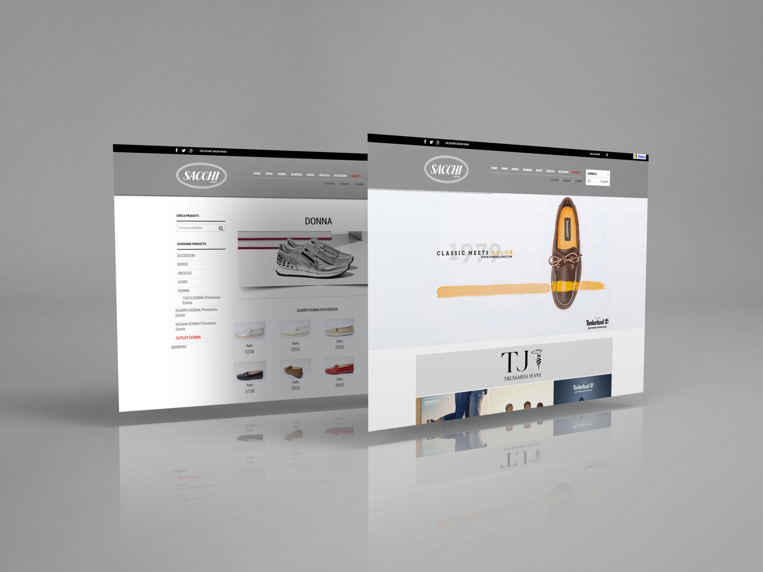 Sito Web Ecommerce Calzature Sacchi