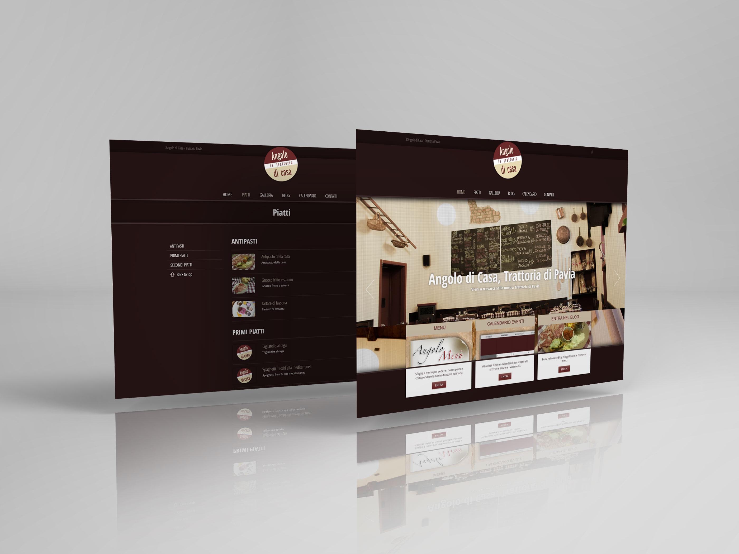 Trattoria angolo di casa p y g design studio siti web e grafica - Siti design casa ...