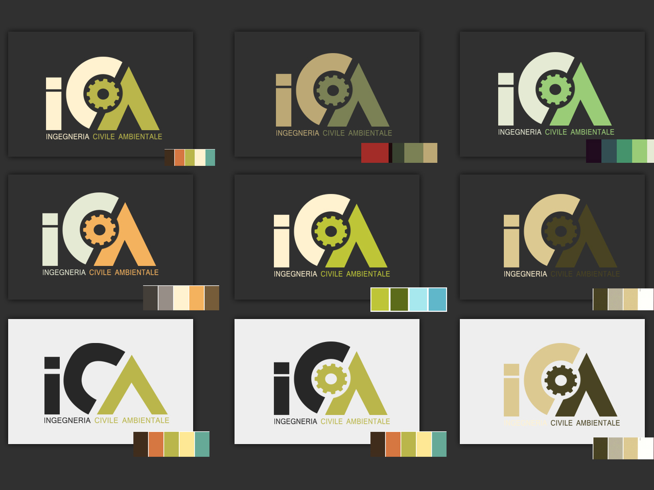 Realizzazione Logo ICA Ingegneria Civile Ambientale