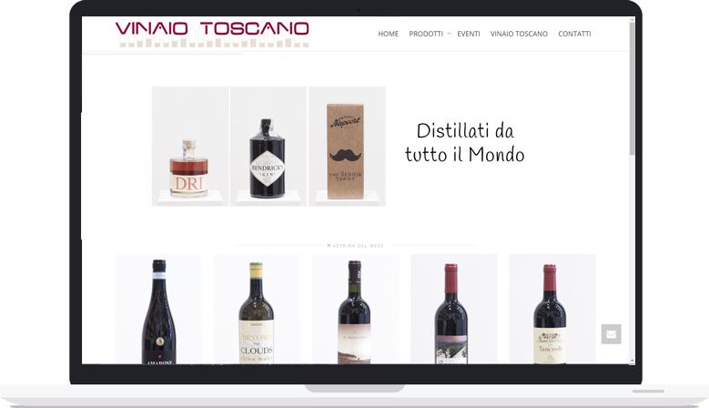 Sito Web Aggiornabile Vinaio Toscano