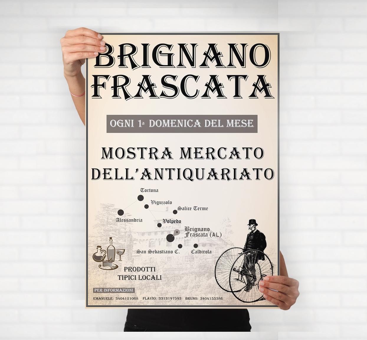 Grafica Manifesto Brignano Frascata