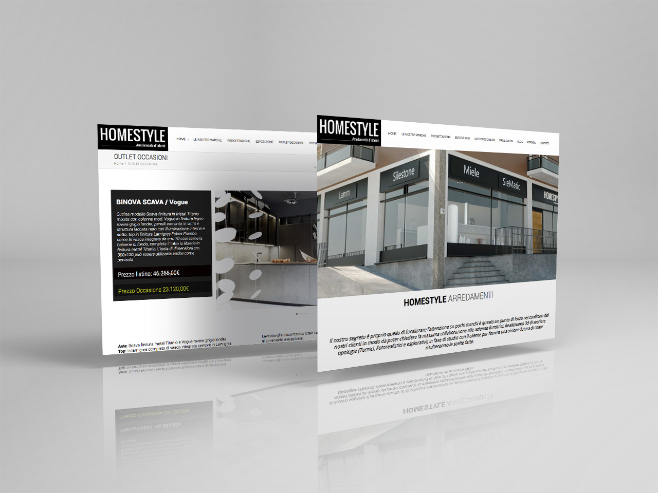 homestyle restyling sito web pyg design studio