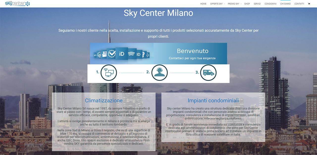 ecommerce skycenter pyg design studio pavia