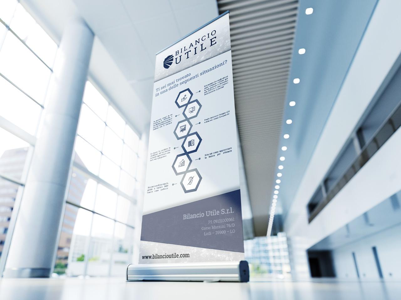 stand promozionale grafica 3d evento bilancioutile
