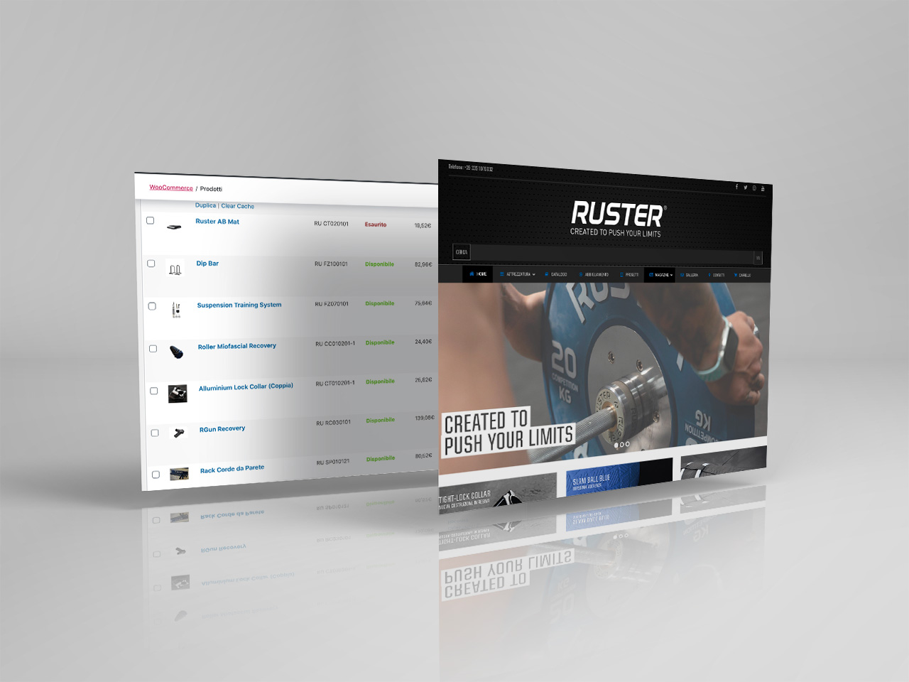 clienti ruster fitness gestione ecommerce woocommerce
