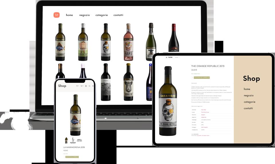 realizzazione ecommerce vini