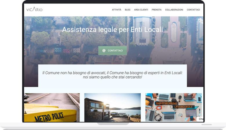 realizzazione sito web studio legale enti locali vicario pyg web agency pavia